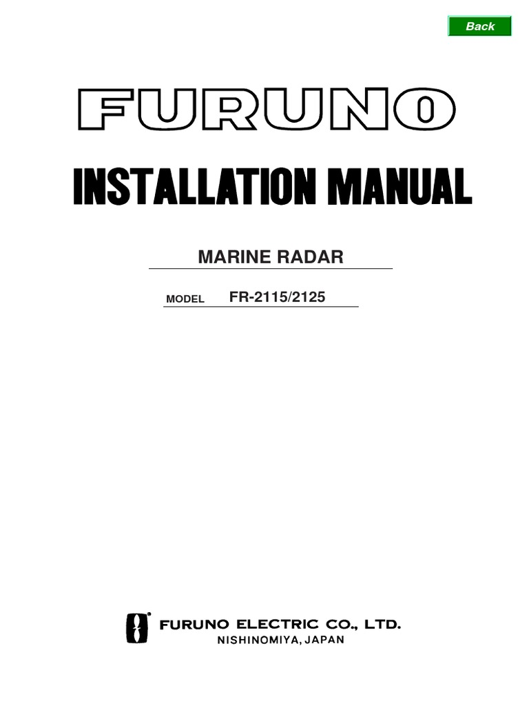 Furuno Radar Wiring Diagrams Electrical Coaxial Cable Diagram Fr 2115 2125 Connector Speed Water Instruments
