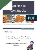 Aula 01 Introdução Aos Materiais de Construção