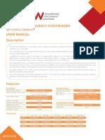 Synthesizer User Manual_00C(Model QP-FSPLL-0040-01) V1.7