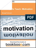 The Experts Teach Motivation