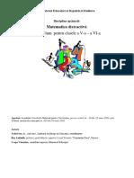 Curriculum Matematica Distractiva Clasa 5 6