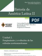 Unidad 2 Surgimiento y Evolución de Las Colonias Norteamericanas