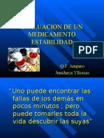 ESTABILIDAD  DE UN MEDICAMENTO.ppt