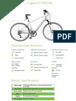 Bicicleta Lugano (CT700-DA)
