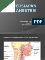 Persiapan Anestesi Umum