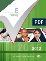 Background Screening Index 2012