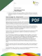 30 04 2011 - El gobernador, Javier Duarte, hace un llamado a unir fuerzas entre México y Francia.