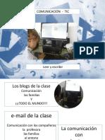 Comunicación TIC . Leer y Escribir