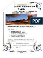 Financiamiento Del Desarrollo Local