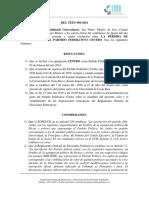 RES TEEU-006-2016 Pérdida de acreditación del Partido Político Centro