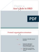 Supervisor's Role in HRD