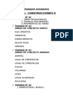 Trabajos Asignados Construccion II Arq. Unsm
