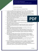 Academic Program Concerns and Complaints Procedure