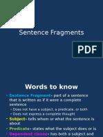 sentence fragments lesson