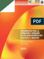 Lineamientos FormaciónyatenciónadolsenTutoría SEP