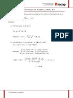 Solución ejercicios algebra ejemplos