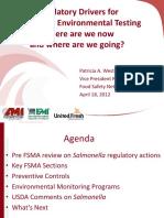 Regulatory Drivers for Salmonella Environmental Testing