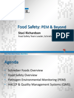 3M - Schreiber Food Inc. Pathogen Environmental Monitoring Programs