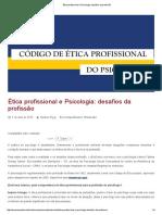 Ética Profissional e Psicologia_ Desafios Da Profissão