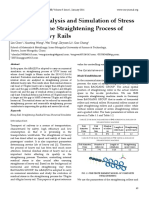 Numerical Analysis and Simulation of Stress Evolution in the Straightening Process of Different Heavy Rails