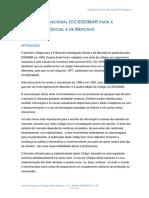 Code ICC-ESOMAR Portuguese Final Version