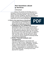 Frequently Ask Questions About JEBE Bookkeeping Services