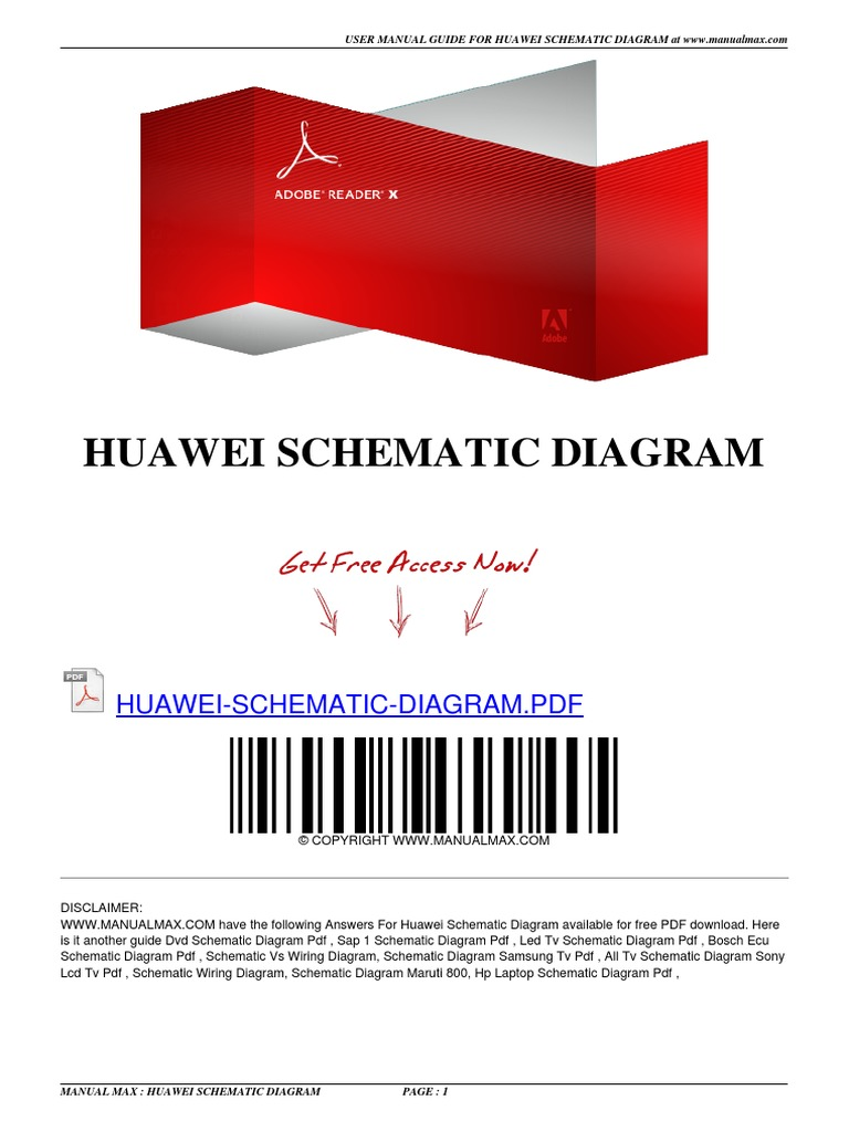 Huawei Schematic Diagram | E Books | Electronic Circuits