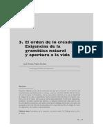 06 - El orden de lo creado. Exigencias de la gramática natural y apertura a la vida.pdf