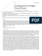 Analysis and Processing of Power Output Signal of 200V Power Devices