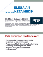 Hukum Kesehatan Penyelesaian Sengketa Medis (1)