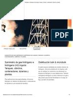 Suministro de Gas Hidrógeno e Hidrógeno (H2) Líquido_ Tanques, Cilindros, Contenedores, Tuberías y Plantas