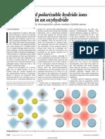 Yamaguchi HyYamaguchi hydrides in oxyperovskitedrides in Oxyperovskite Science 2016,351,1263