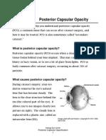 Posterior Capsular Opacity