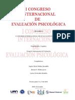 Memorias i Congreso Internaciona de Evaluacion Psicologica Pereira 3 4 y 5 de Junio Del 2016