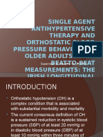 Single Agent Antihypertensive Therapy and Orthostatic Blood Pressure.pptx