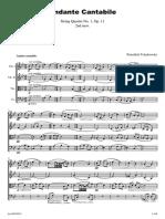 Andante Cantabile P Tchaikovsky - String Quartet-parts