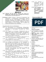 2015 Fiesta Del Oratorio de Don Bosco - Organización (1) (1)