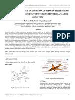 Damage Tolerance Evaluation of Wing in Presence of Large Landing Gear Cutout Through Stress Analysis Using Fem