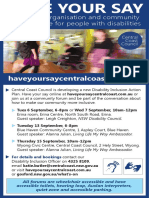 Have Your Say PDF Flyer