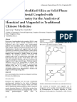 Ionic Liquid-Modified Silica as Solid Phase Extraction Material Coupled with Spectrofluorimetry for the Analysis of Honokiol and Magnolol in Traditional Chinese Medicine