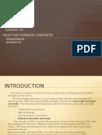 Seminar Reactive Powder Concrete