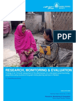 Research Monitoring and Evaluation