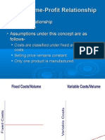 Cost Volume Profit Relationship