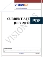 Current Affairs July 2016