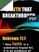 A Faith That Breakthrough