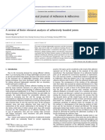 A Review of Finite Element Analysis of Adhesively Bonded Joints