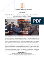 Press Release - AlHuda CIBE efforts to promote Islamic Banking