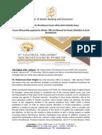 AlHuda CIBE - Press Release of 6th GIMF