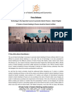 AlHuda CIBE - Press Release on Technology is the Important Source to Promote Islamic Finance