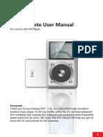 FiiO X1 User Guide